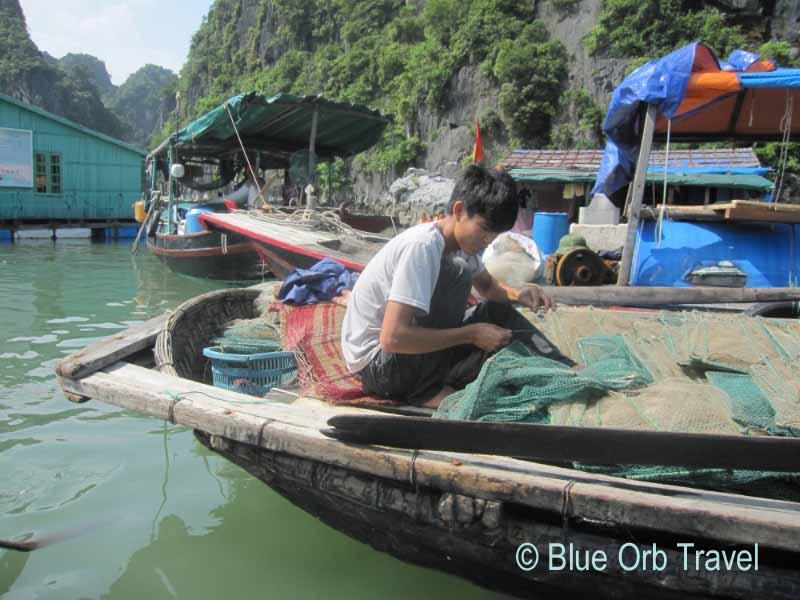 Fisherman on Halong Bay