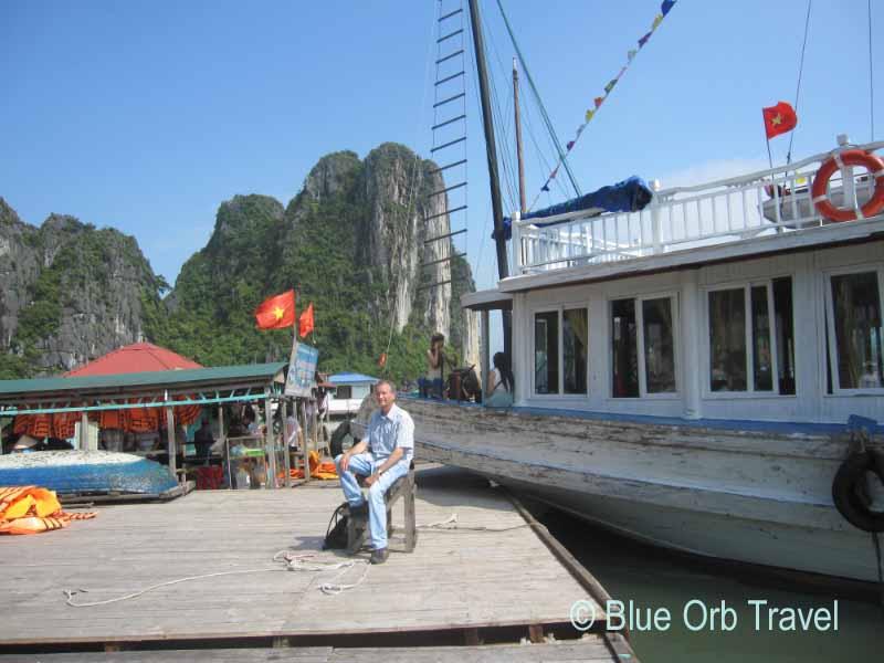 John Taking a Break, Halong Bay, Vietnam