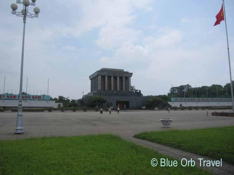 The Ho Chi Minh Mausoleum in Hanoi, Vietnam