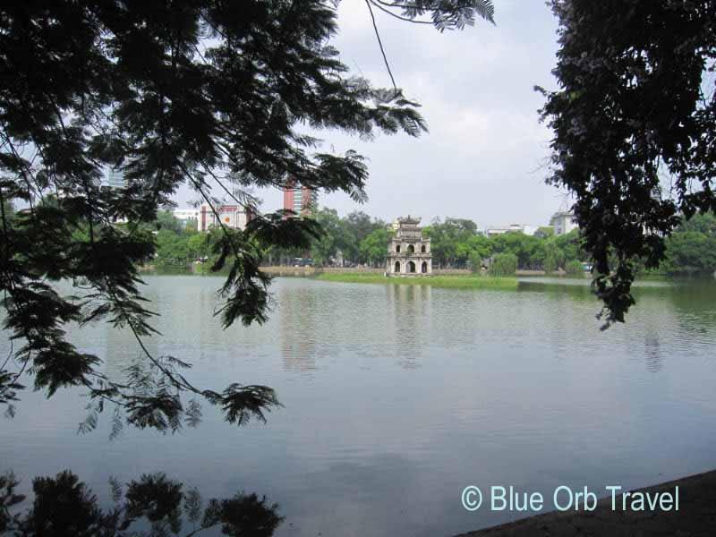 The Turtle Tower on Hoan Kiem Lake, Hanoi, Vietnam