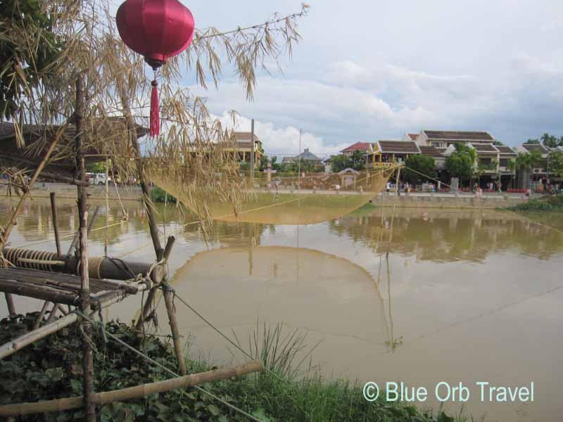 Fishing Nets Over the Thu Bon River, Hoi An, Vietnam