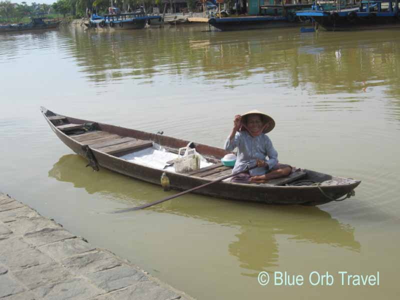 Friendly Boat Lady on the Thu Bon River, Hoi An