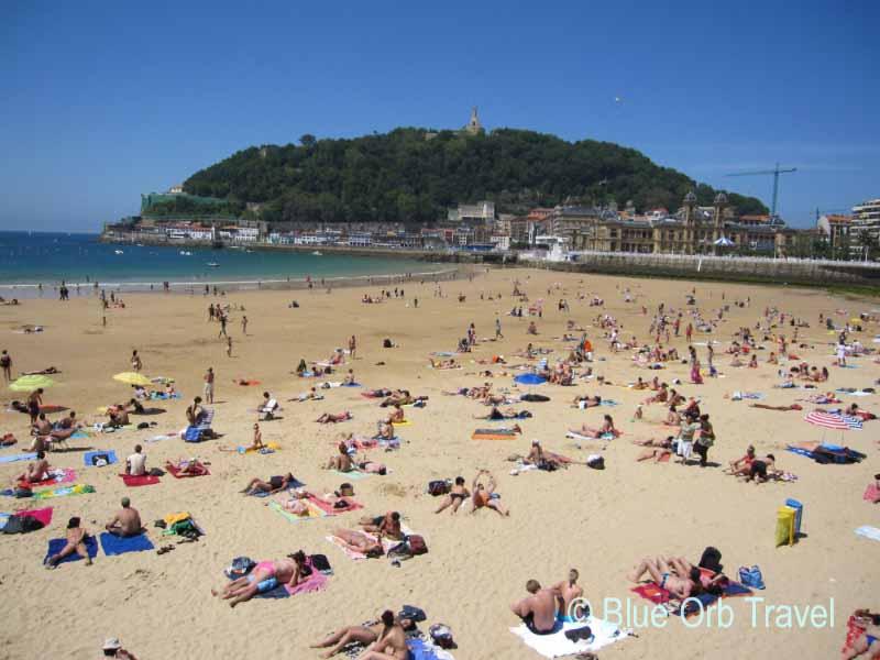 The Beach at San Sebastian, Spain