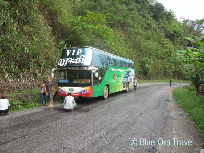 The Bus From Vientiane to Luang Prabang