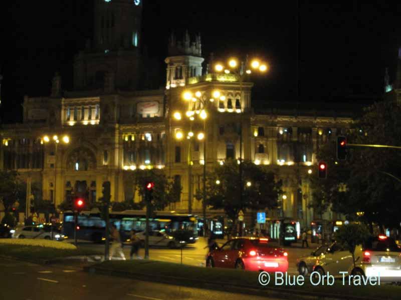 Traffic at 2 AM, Madrid, Spain