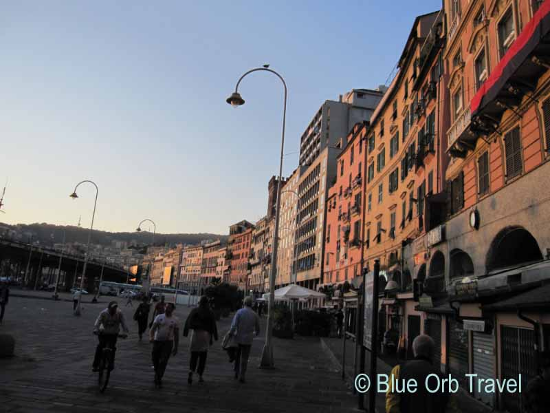 Colorful Buildings Along the Genoa Waterfront