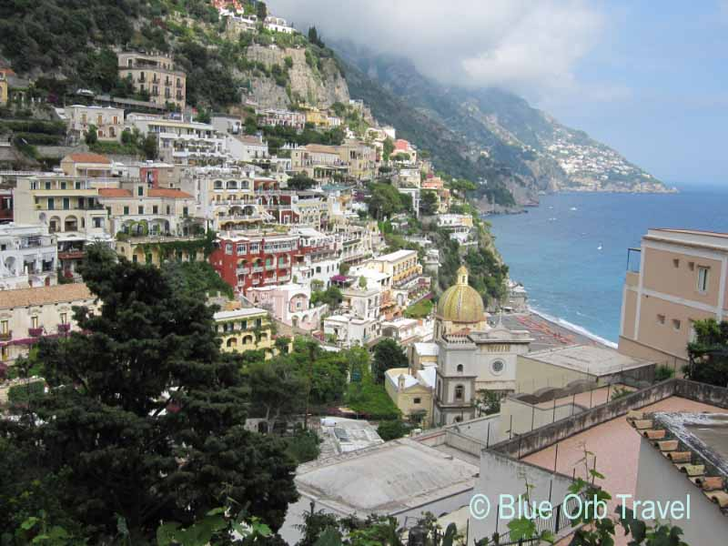 Seaside Village of Positano on the Amalfi Coast of Italy