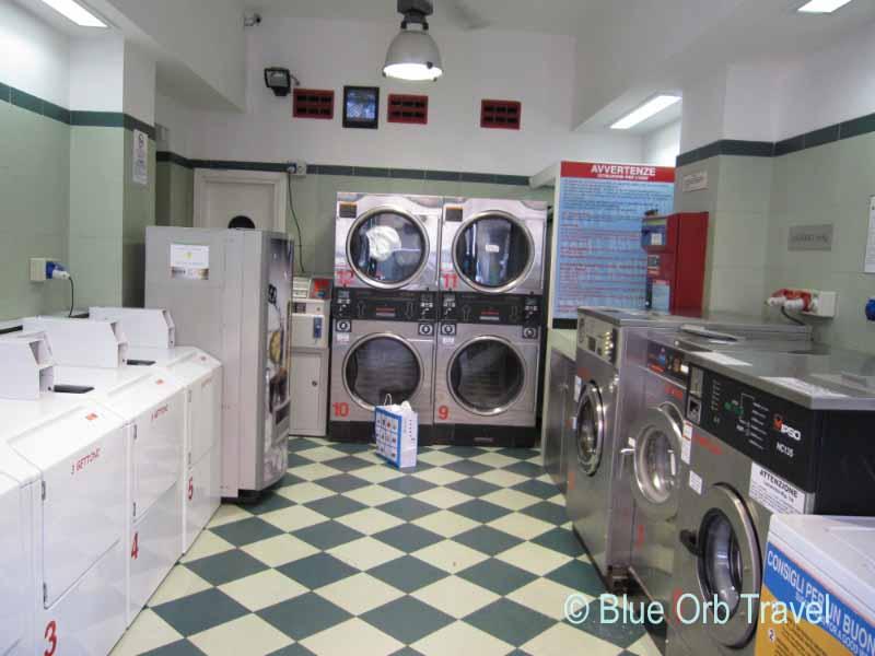 Laundromat in Bologna, Italy