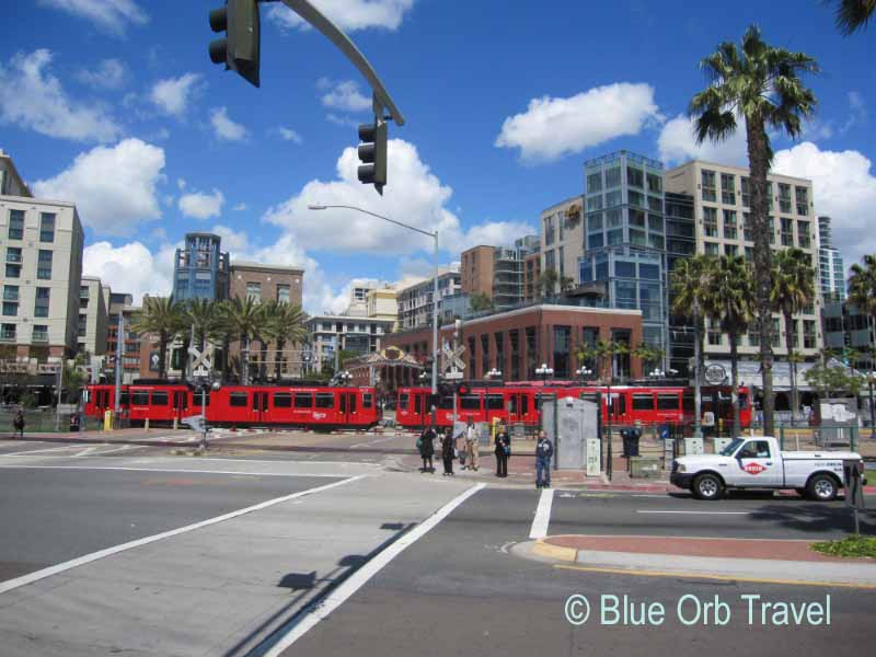 The Red San Diego Trolley