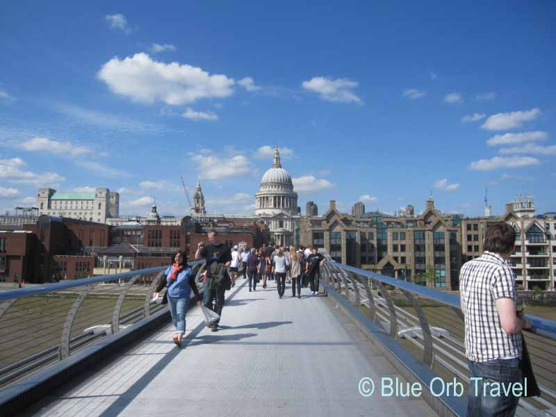 The Millennium Bridge with St. Paul's Cathedral in Background