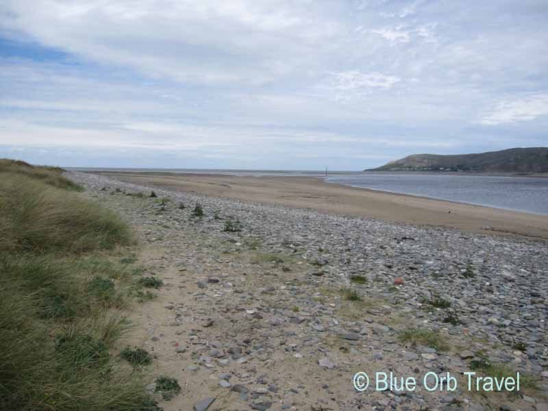 Mussel Beds on the Mouth of the Conwy Estuary on the Irish Sea