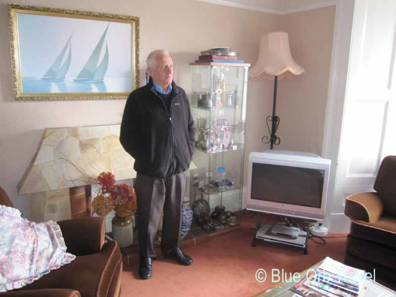 Alan Hughes, Proprietor, in the TV Lounge of the Guest House
