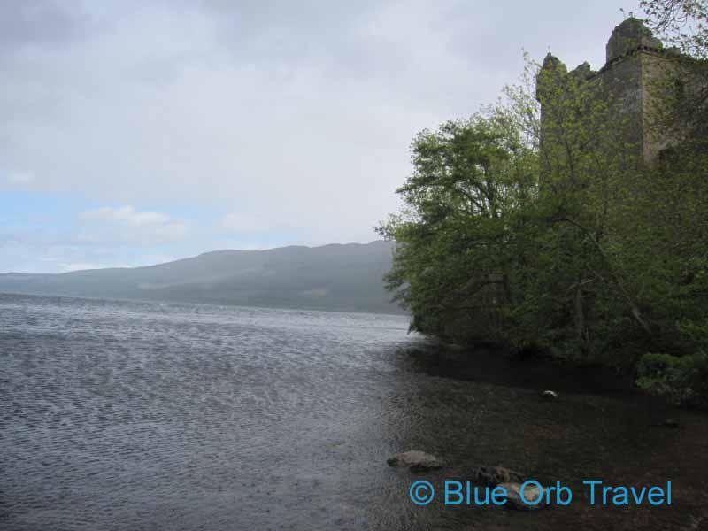 Site of Loch Ness Monster Sighting Below Urquhart Castle