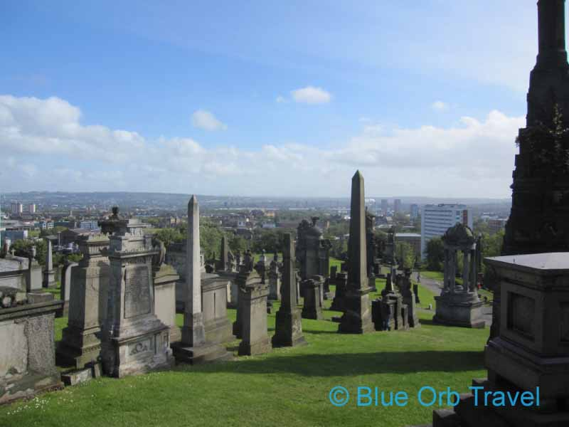 View of Glasgow, Scotland from the Necropolis