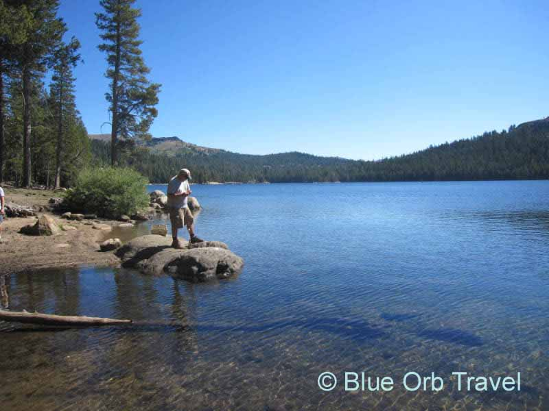 Fishing at Lake Alpine, California