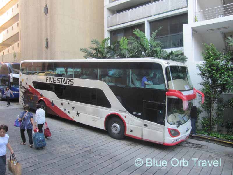 Bus Leaving from Golden Mile Complex, Singapore