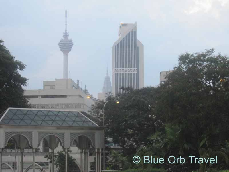 The KL Tower and Petronas Twin Towers Dominate the Skyline
