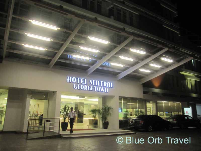 The Hotel Sentral at Night