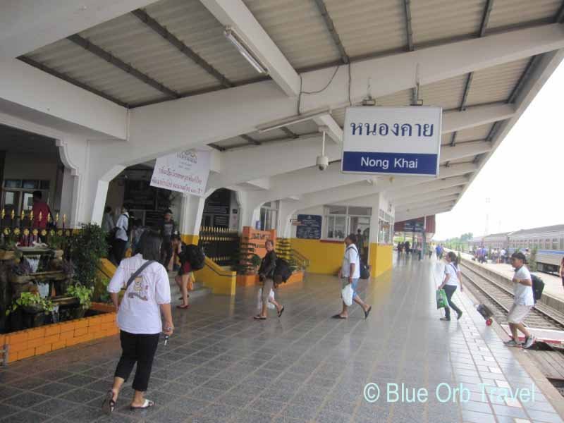 Arriving at the Nong Khai, Thailand Railway Station on the Laotian Border