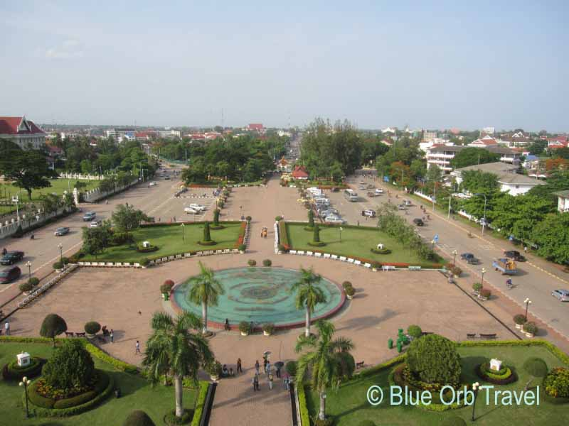View from the Victory Gate, Vientiane, Laos