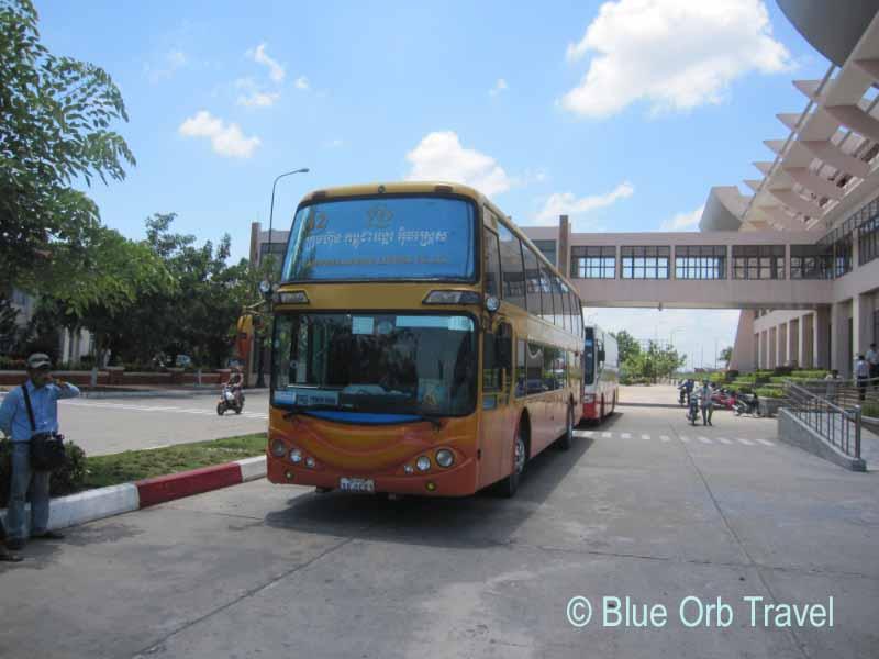 Bus Stopping for Customs at Vietnam-Cambodia Border