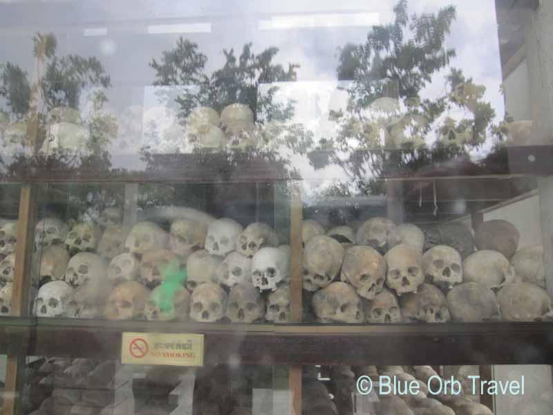 Skulls in Stupa at Choeung Ek