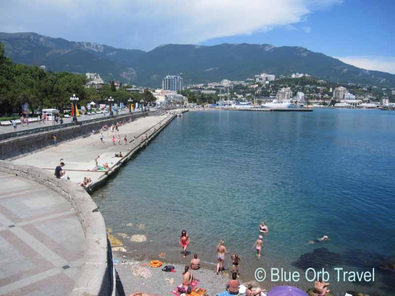Yalta on the Crimean Coast of the Black Sea in Ukraine