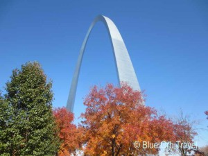 The St. Louis Gateway Arch in Fall