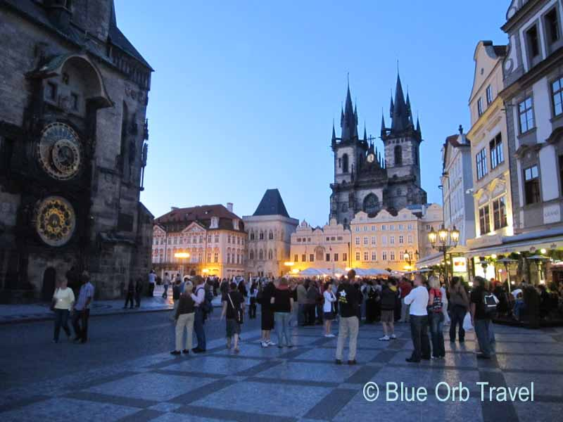 Old Town Square at Night, Prague, Czech Republic