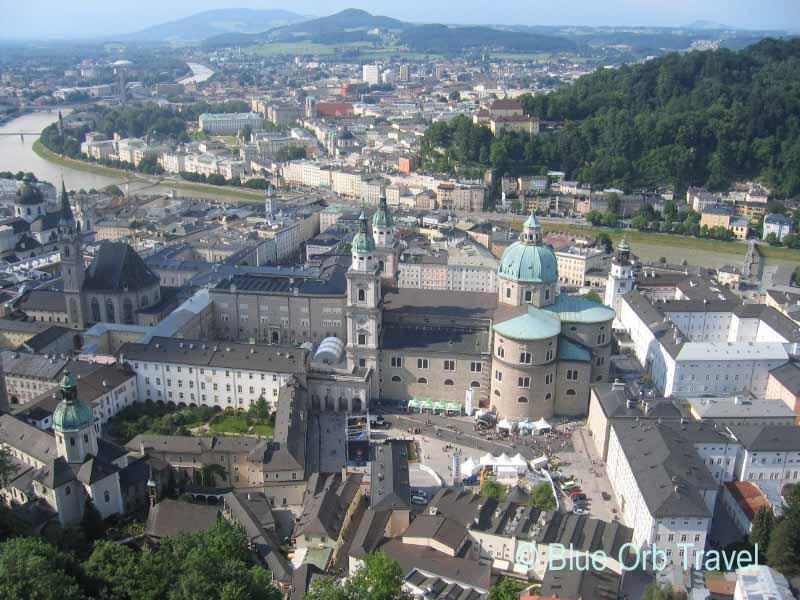 Salzburg, Austria from the Hohensalzburg Castle