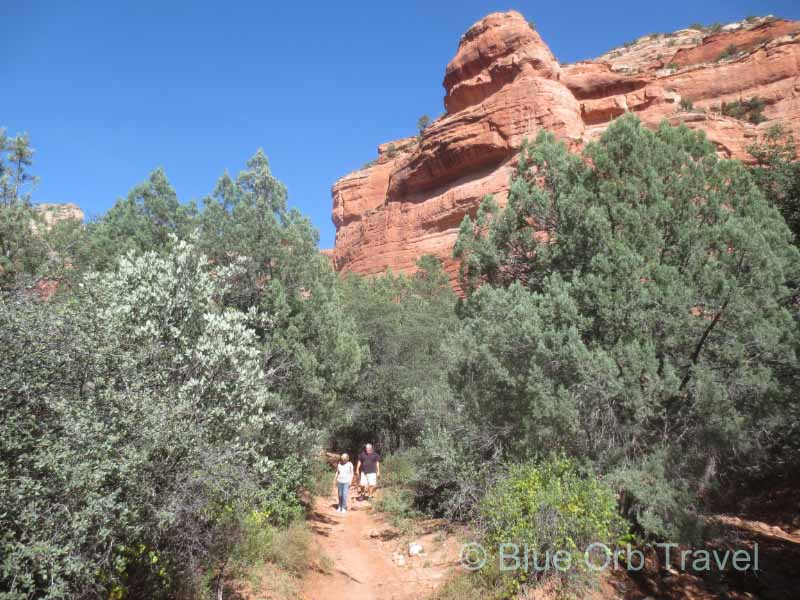 Hiking in Fay Canyon near Sedona, Arizona
