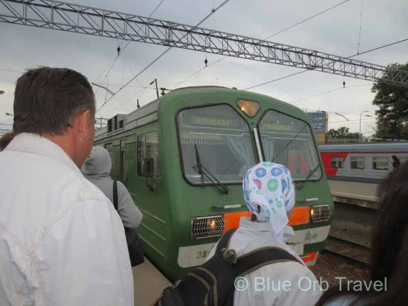 Boarding the Trans-Siberian Railway in Moscow, Russia