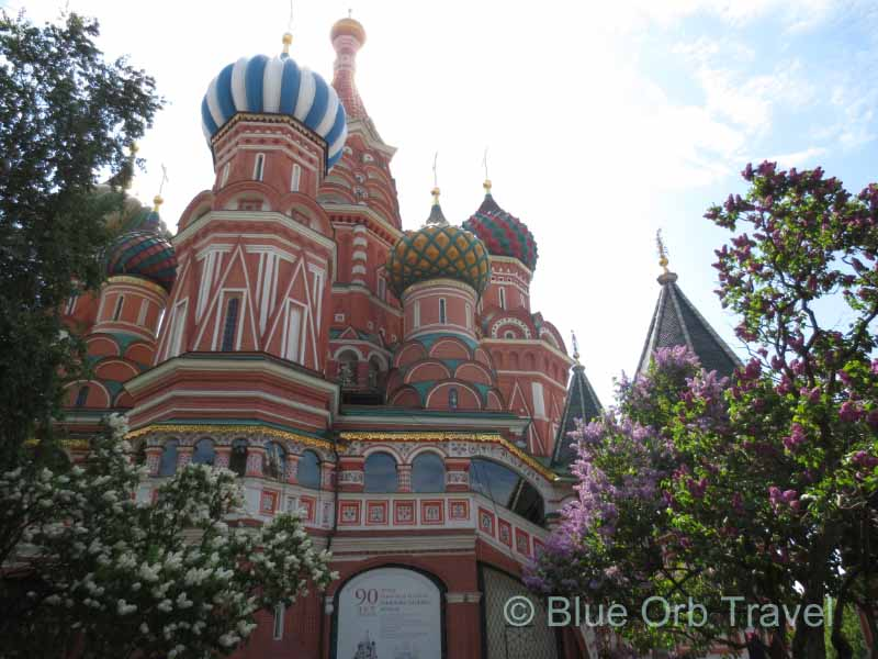 Lilacs in Bloom St. Basil's Cathedral, Moscow