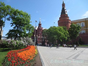 Colorful Gardens at Entrance to Red Square, Moscow