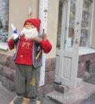 Santa Claus Figure Outside Shop in Helsinki, Finland