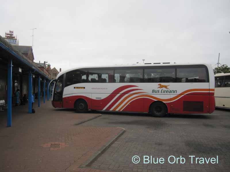 Bus Eireann at the Galway Station, Ireland